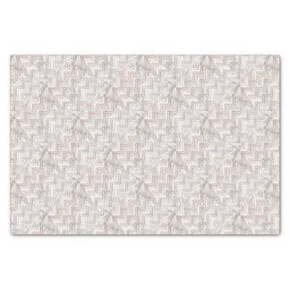 Papier Mousseline Zigzag rose d'or et de marbre