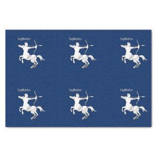 Papier Mousseline Zodiaque de Sagittaire de bleu marine