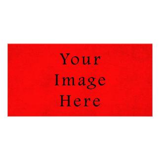 Papier parcheminé rouge de Noël vintage de vacance Cartes Avec Photo