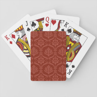 Papier peint 3 de damassé jeu de cartes