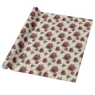 Papier peint antique de rose rouge papier cadeau
