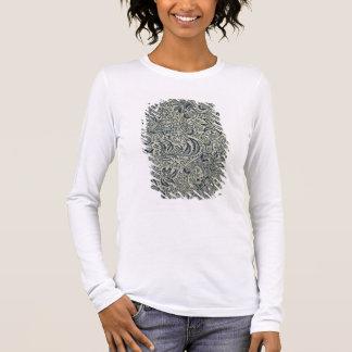 Papier peint avec la conception de style d'algue t-shirt à manches longues