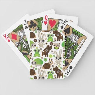 papier peint d'animal de lapin de tortue de cerfs  cartes à jouer