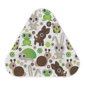 papier peint d'animal de lapin de tortue de cerfs haut-parleur bluetooth