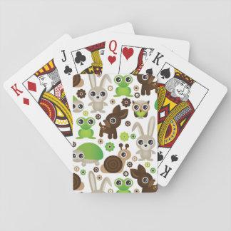 papier peint d'animal de lapin de tortue de cerfs jeu de cartes