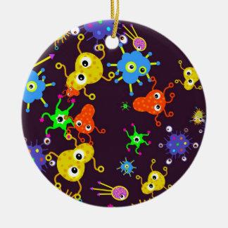 Papier peint de bactéries ornement rond en céramique