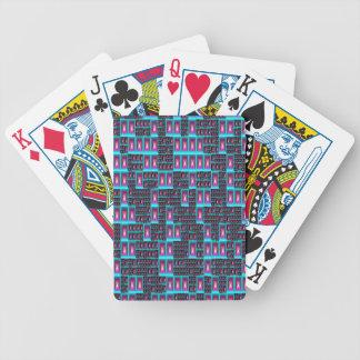 Papier peint de fractale de techno cartes à jouer