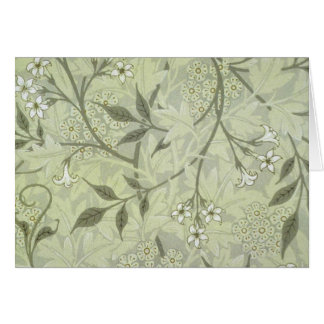 Papier peint de jasmin de William Morris Carte De Vœux