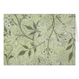 Papier peint de jasmin de William Morris Cartes