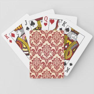Papier peint de motif de damassé jeux de cartes