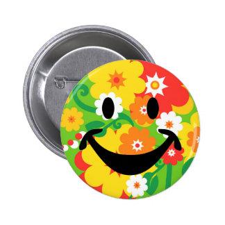 Papier peint drôle et smiley de flower power pin's