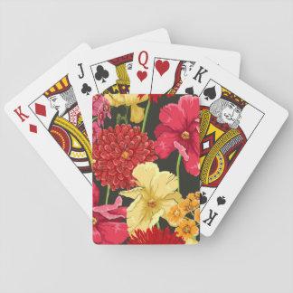 Papier peint floral dans le style d'aquarelle cartes à jouer
