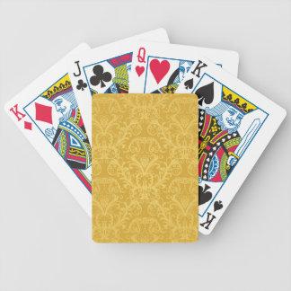 Papier peint floral d'or de luxe cartes à jouer