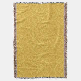 Papier peint floral d'or de luxe couvre pied de lit