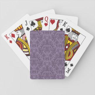 Papier peint floral pourpre 2 cartes à jouer