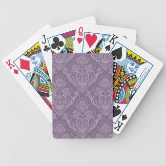Papier peint floral pourpre jeux de cartes