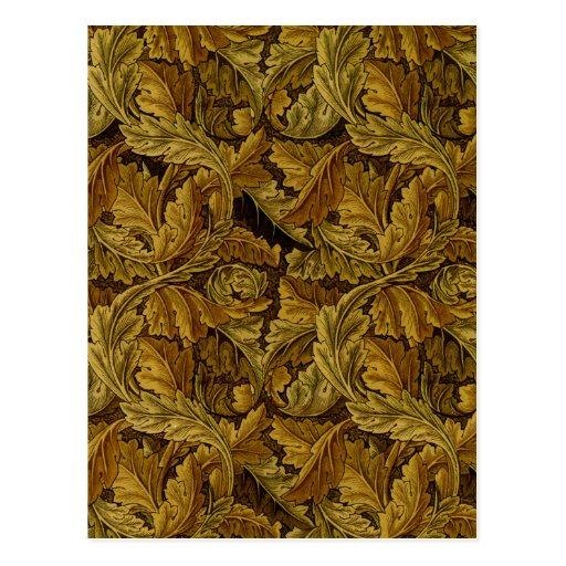 papier peint floral vintage de william morris cartes postales zazzle. Black Bedroom Furniture Sets. Home Design Ideas