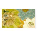 Papier peint floral vintage, vert de turquoise et  cartes de visite professionnelles