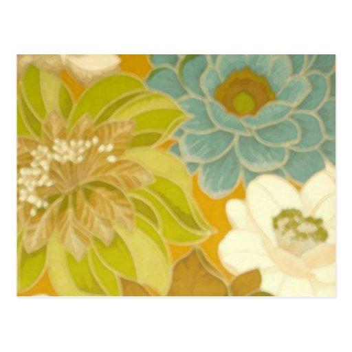 papier peint floral vintage vert de turquoise et carte postale zazzle. Black Bedroom Furniture Sets. Home Design Ideas