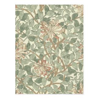 Papier peint floral William Morris de Carte Postale