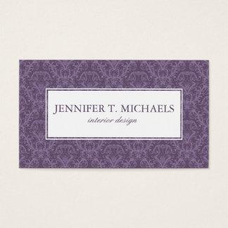 Papier peint pourpre de luxe cartes de visite