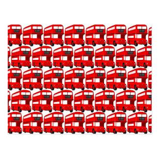 Papier peint rouge d'autobus à impériale de cartes postales