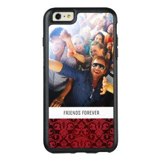 Papier peint rouge fait sur commande 2 de photo et coque OtterBox iPhone 6 et 6s plus