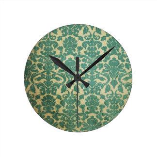 Papier peint vintage 1 horloge ronde