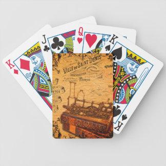 Papier peint vintage de train de Steampunk Jeu De Poker