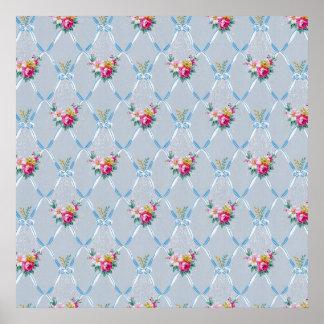 posters papier peint floral papier peint floral affiches art papier peint floral toiles. Black Bedroom Furniture Sets. Home Design Ideas
