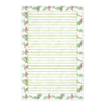 Papier rayé de papeterie de rose de thé rose papier à lettre personnalisé