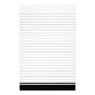 Papier rayé simple pour la papeterie de notes