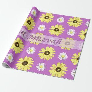 Papier rayonnant d'enveloppe d'orchidée de papier cadeau