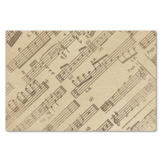 Papier vintage âgé de feuille de musique papier mousseline