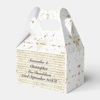 Papier vintage et mariage campagnard blanc de ballotins