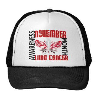 Papillon 3,4 de mois de conscience de cancer de casquettes de camionneur