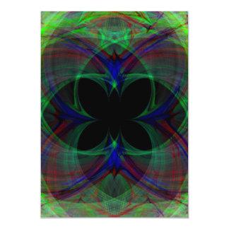 Papillon abstrait 2 carton d'invitation  12,7 cm x 17,78 cm