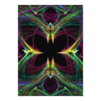 Papillon abstrait carton d'invitation  12,7 cm x 17,78 cm