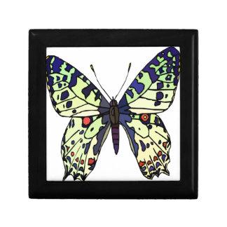 papillon acolorful petite boîte à bijoux carrée