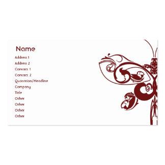 Papillon - affaires carte de visite standard