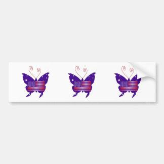 Papillon américain de diva autocollants pour voiture