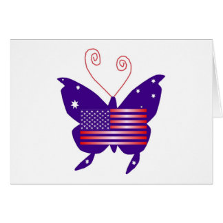 Papillon américain de diva carte de vœux