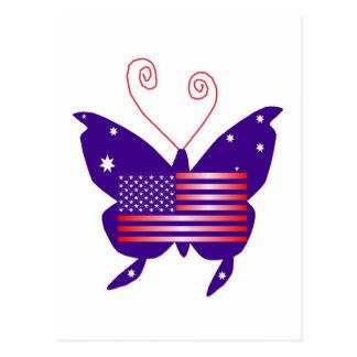 Papillon américain de diva carte postale