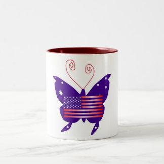 Papillon américain de diva mugs à café
