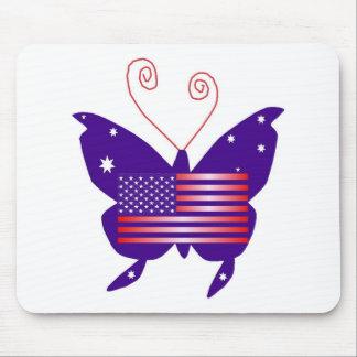 Papillon américain de diva tapis de souris