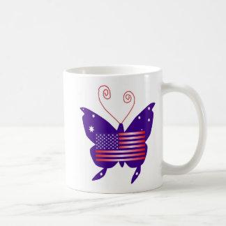 Papillon américain de diva tasse à café