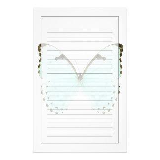 Papillon blanc papier à lettre