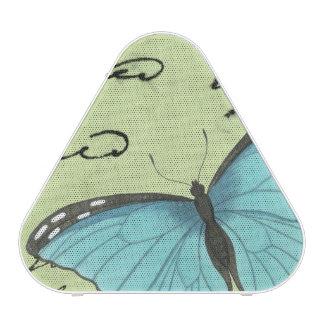 Papillon Bleu-À ailes sur la carte postale Haut-parleur Bluetooth