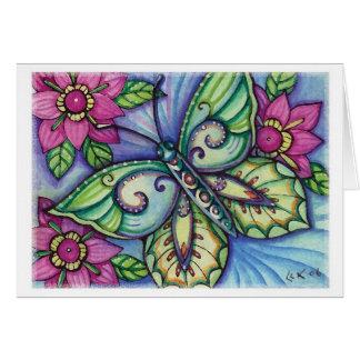 * Papillon bleu * - carte vierge