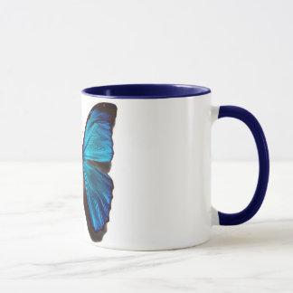 Papillon bleu de morpho mug